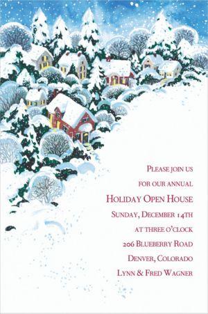 Custom Winter Wonderland Invitations