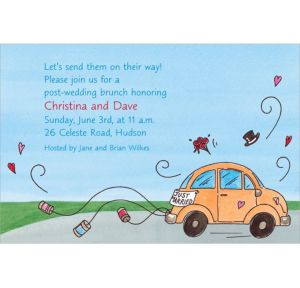 Custom Just Married Getaway Car Bridal Shower Invitations