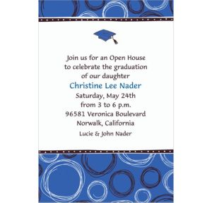 Custom Mortarboard & Pattern Graduation Invitations