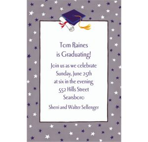 Custom Graduate Star Pattern Invitations