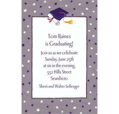 Custom Graduate Star Pattern Invitations