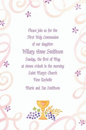 Custom Pretty Chalice & Flowers Invitations