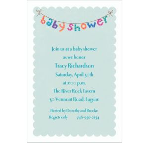 Custom Baby Shower Banner Baby Shower Invitations