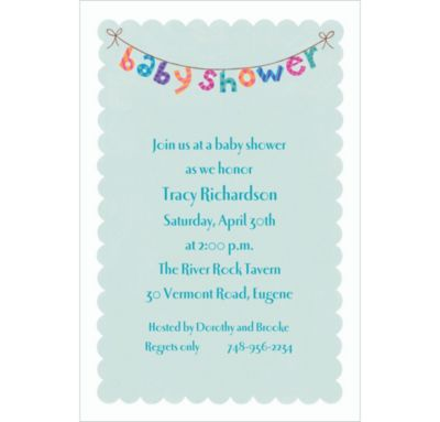 Baby Shower Banner Custom Baby Shower Invitation