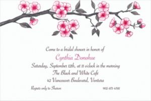 Custom Blooming Branches Invitations