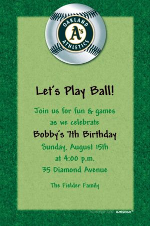 Custom Oakland Athletics Invitations