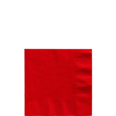 Red Beverage Napkins 50ct