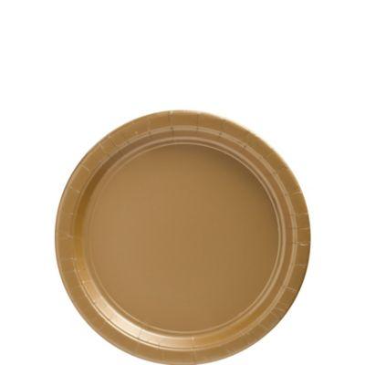 Gold Paper Dessert Plates 20ct