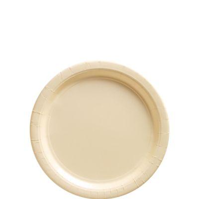 Vanilla Paper Dessert Plates 20ct