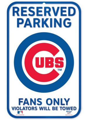 Reserved Parking Chicago Cubs Sign
