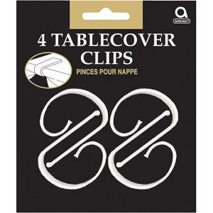 CLEAR Table Cover Clips 4ct