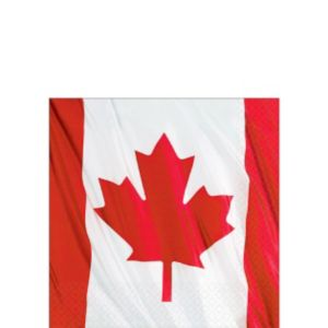 Waving Canadian Flag Beverage Napkins 30ct