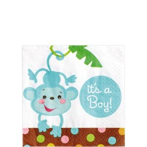 Fisher-Price Jungle Boy Baby Shower Beverage Napkins 16ct