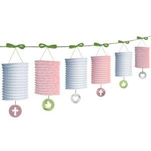 Pink Sweet Religious Paper Lantern Garland
