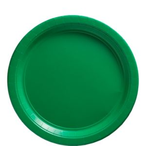 Big Party Pack Festive Green Paper Lunch Plates 50ct