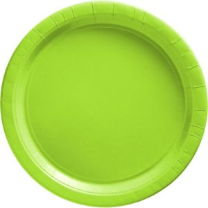 Kiwi Green Paper Lunch Plates 50ct
