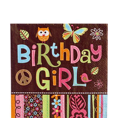 Hippie Chick Birthday Lunch Napkins 16ct