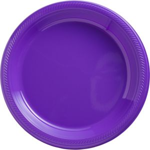 Big Party Pack Purple Plastic Dinner Plates 50ct