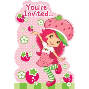 Strawberry Shortcake Invitations 8ct