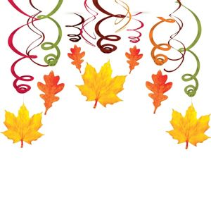 Fall Swirl Decorations 30ct