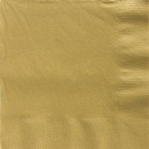 Big Party Pack Gold Dinner Napkins 50ct