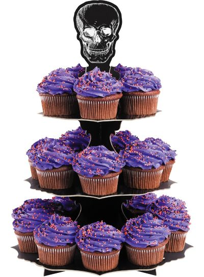 Skull Cupcake Stand Holds 24