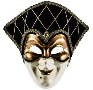 Gold Jester Masquerade Mask