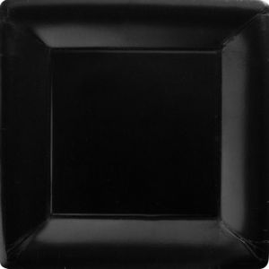 Black Paper Square Dinner Plates 20ct