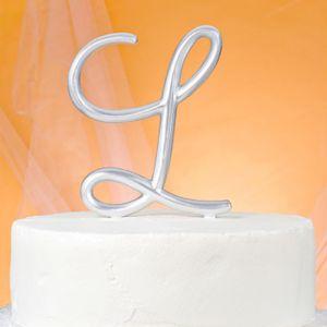 Monogram L Wedding Cake Topper