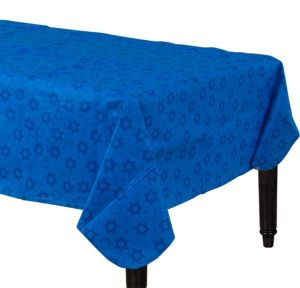 Hanukkah Flannel-Backed Vinyl Table Cover