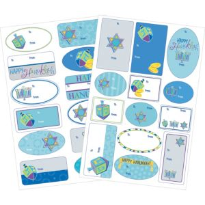 Hanukkah Icons Adhesive Gift Tags 100ct