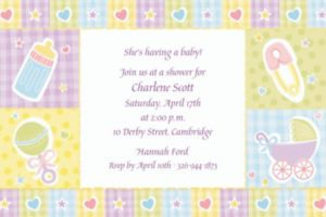 Custom Baby's Nursery Baby Shower Invitations