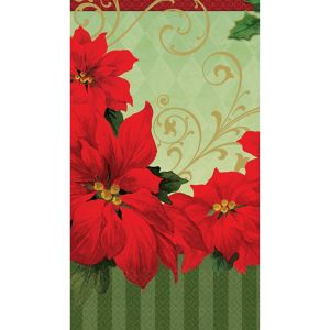 Vintage Poinsettia Guest Towels 36ct