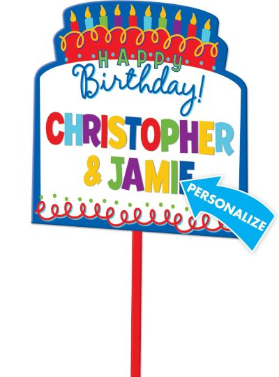 Happy Birthday Personalized Yard Sign