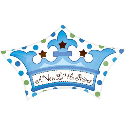 Baby Shower Balloon - Little Prince Crown
