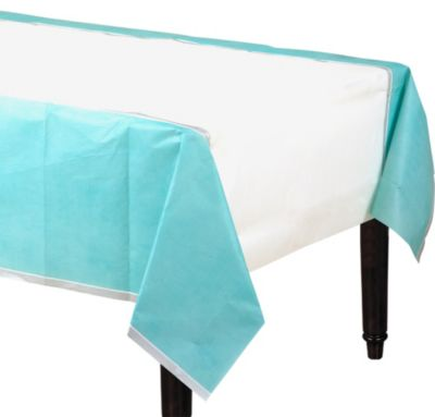 Turquoise Border Table Cover