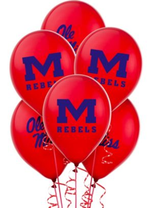 Ole Miss Rebels Balloons 10ct