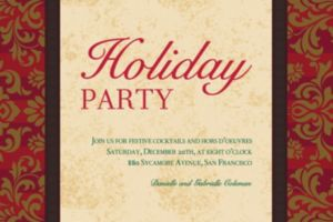 Custom Holiday Style Invitations
