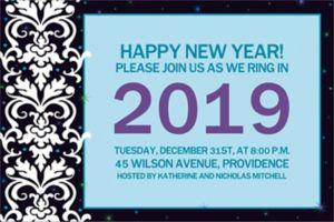 Custom Elegant New Year's Invitations