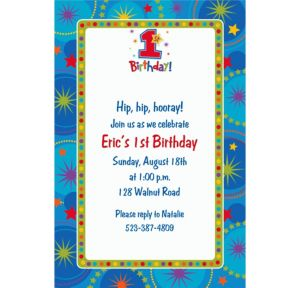 Custom One-Derful Boy 1st Birthday Invitations