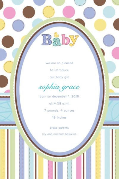 Custom Tiny Bundle Birth Announcements