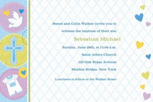Custom Blue Sweet Religious Invitations