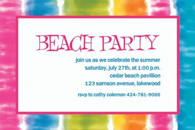 Custom Summer Lovin' Invitations