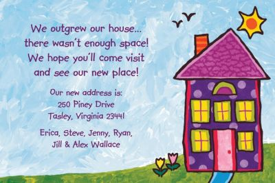 Custom House Painting Housewarming Invitations