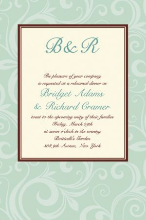 Custom Floating Mint Border Invitations
