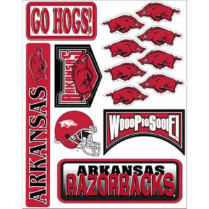 Arkansas Razorbacks Decals 18ct
