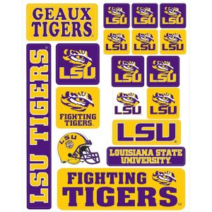 Louisiana State Tigers Decals 18ct