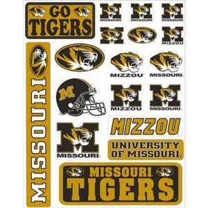Missouri Tigers Decals 18ct