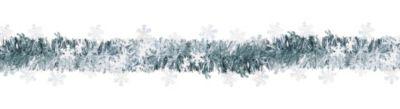 Snowflake Tinsel Garland
