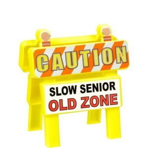 Mini Old Zone Caution Sign
